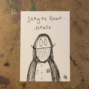 Stay at home - original mini artist card