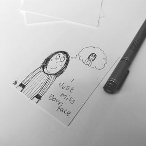 I miss your face - original mini artist cards CUSTOM