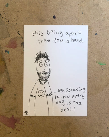 Being apart - original mini artist card