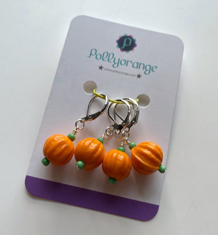 Pumpkin stitch markers