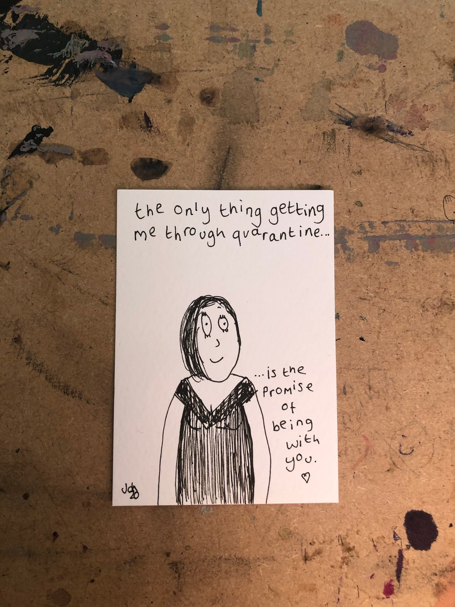 The only thing - original mini artist card