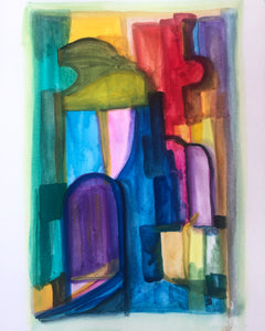 Street - original abstract painting