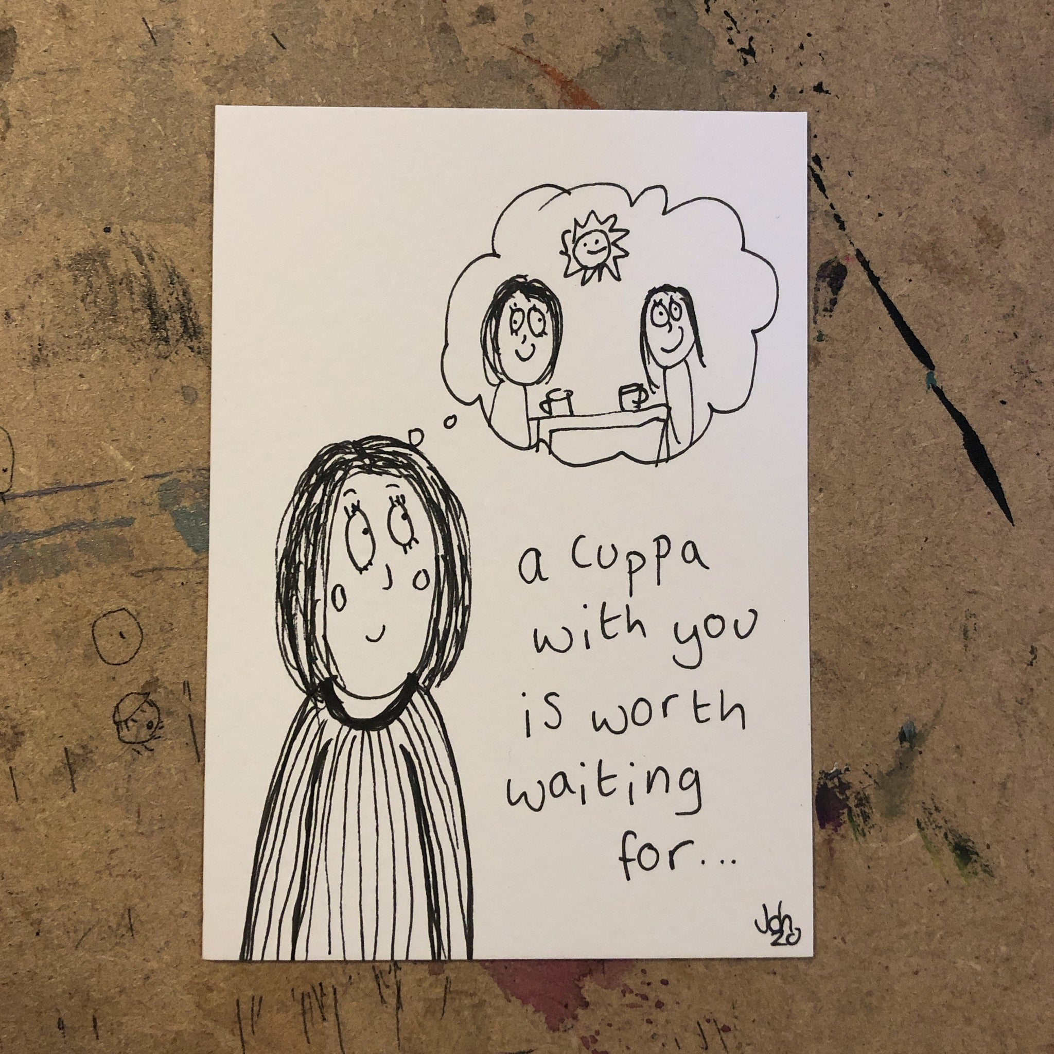 Cuppa - original mini artist card