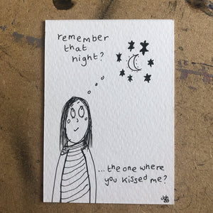 Remember that night? - original mini artist card