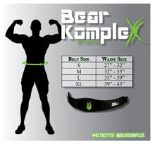 "Load image into Gallery viewer, Bear Komplex - BKX - Strength Belt w/ 6"" back"