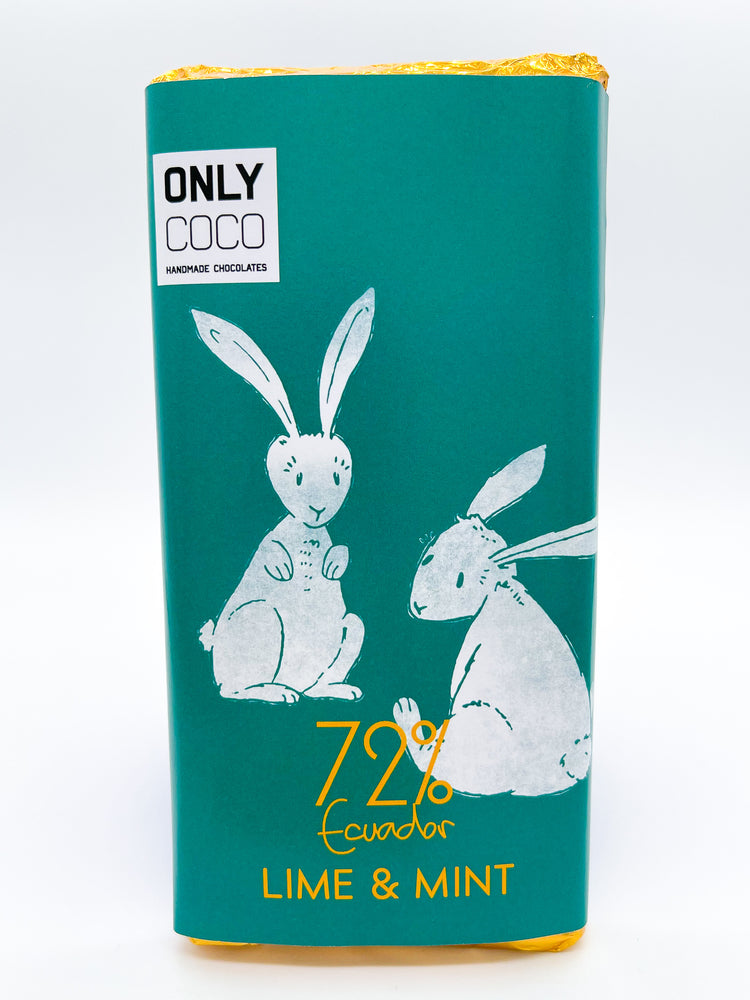 Lime & Mint Dark Chocolate Bar - 72% Ecuadorian
