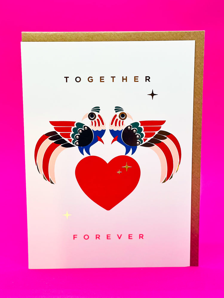 Load image into Gallery viewer, Together forever - Valentines card