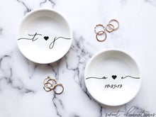 Load image into Gallery viewer, Engagement Ring Dish With Couple's Initials