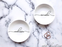 Load image into Gallery viewer, Personalized Jewelry Dish - Black Lettering