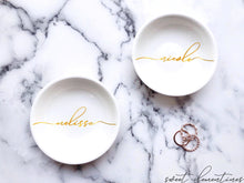 Load image into Gallery viewer, Personalized Jewelry Dish - Gold Lettering
