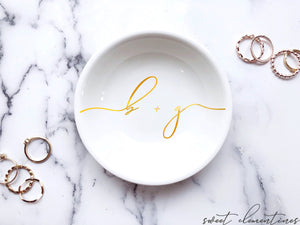 Engagement Ring Dish - Gold Lettering