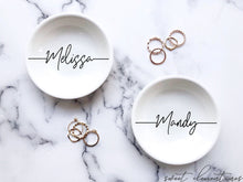 Load image into Gallery viewer, Personalized Jewelry Dish - Signature Lettering