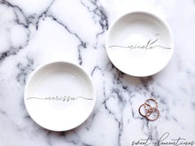 Load image into Gallery viewer, Personalized Jewelry Dish - Silver Lettering
