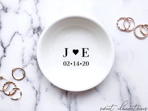 Engagement Ring Dish - Couple's Initials