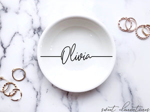 Personalized Jewelry Dish - Signature Lettering