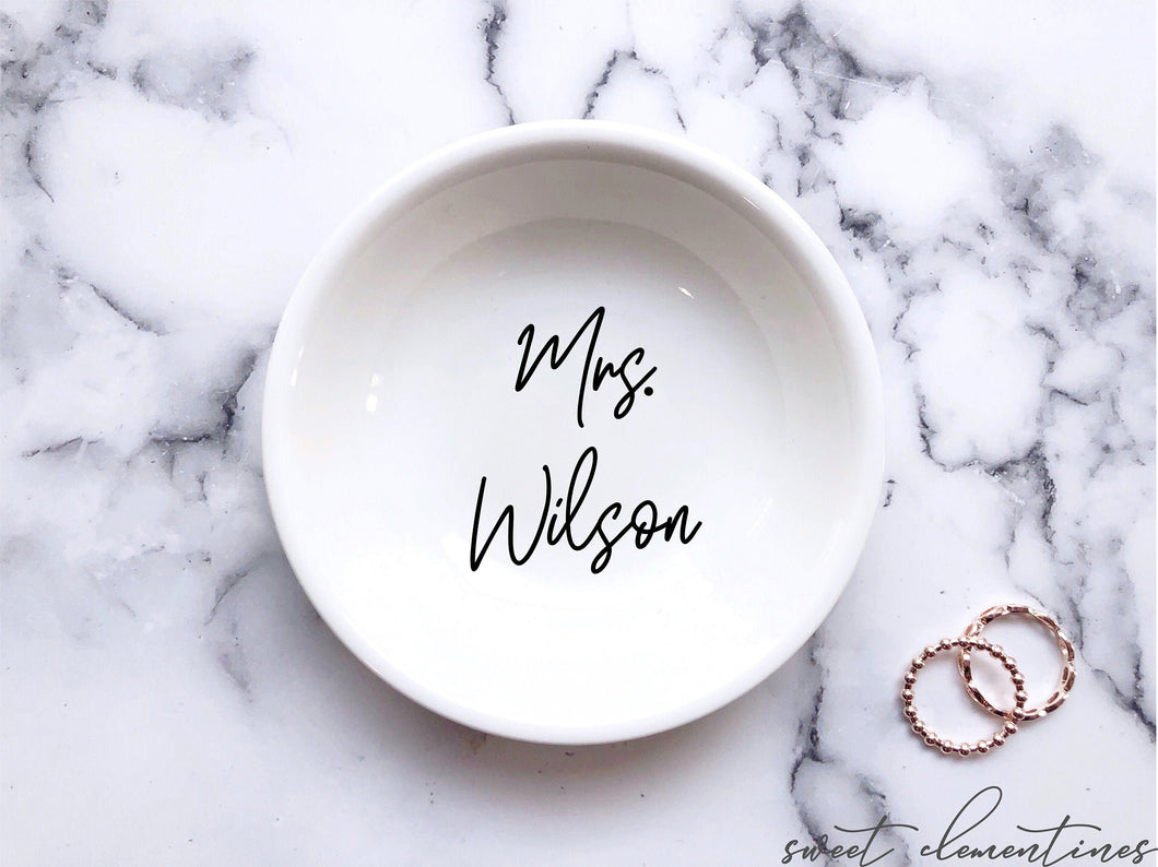 Wedding Ring Dish - Black