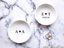 Load image into Gallery viewer, Engagement Ring Dish - Couple's Initials