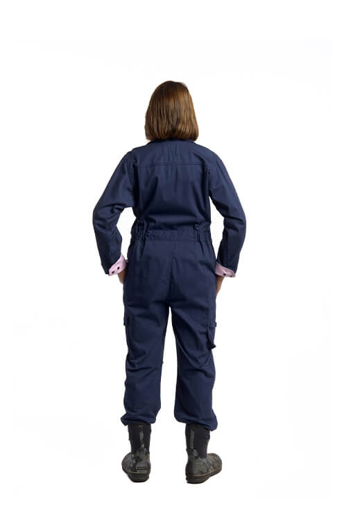 Rosies Classic Coverall | Navy with Light Pink Trim
