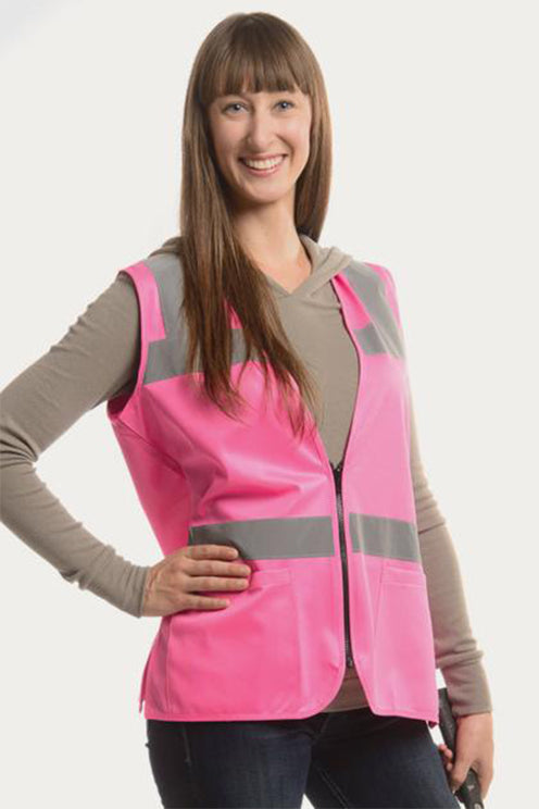 Safety Vest with Pockets | Pink