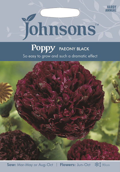 POPPY Paeony Black