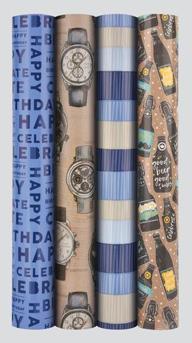 Roll of Wrapping Paper - Bright - MALE