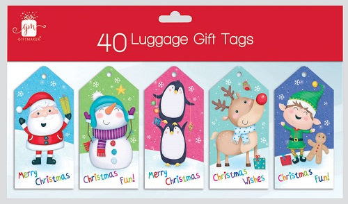 40 Novelty Christmas Gift Labels