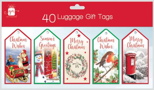 40 Traditional Christmas Gift Labels