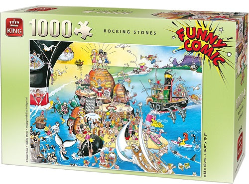 1000 PCS Rocking Stones Funny Comic Jigsaw Puzzle