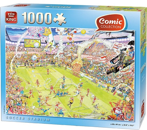 1000 PCS Comic Soccer Stadium Jigsaw Puzzle