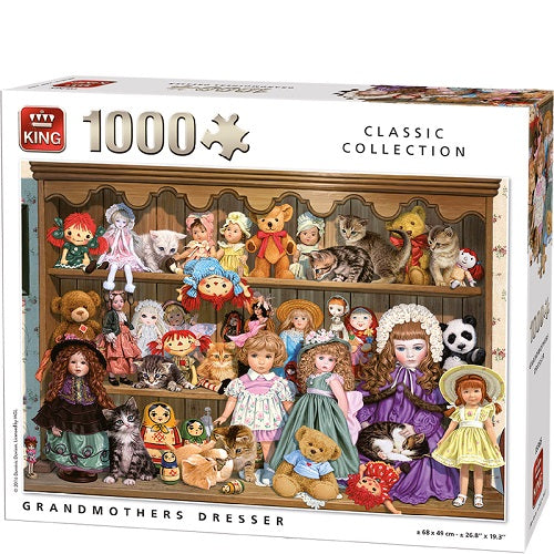 1000 PCS Grandmother's Dresser Jigsaw Puzzle