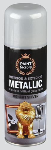 Metallic Spray Paint - Bright Silver