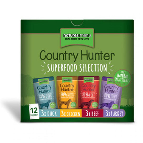 Country Hunter Superfood Selection Dog Pouches 12x150g
