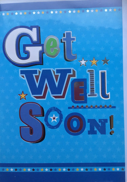 Greeting Card - Get Well Soon - Male