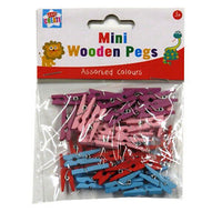 KIDS CRAFT MINI WOODEN PEGS