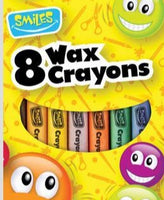SMILE 8 WAXED CRAYONS
