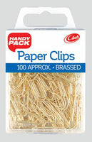 BRASSED PAPER CLIPS