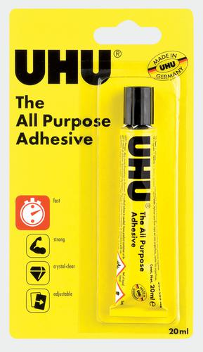 UHU ALL PURPOSE ADHESIVE GLUE 20ML