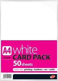 A4 White Card Pack 220GSM 50 Sheets