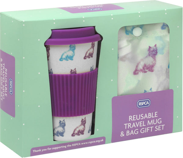 RSPCA Travel Mug & Shopper Bag Gift Set Dogs