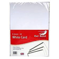 A4 White Card 8 sheets