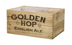 Antique Brown Beer Crate - 3 Sizes