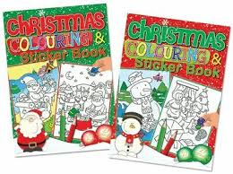 Large Christmas Colouring & Sticker Book
