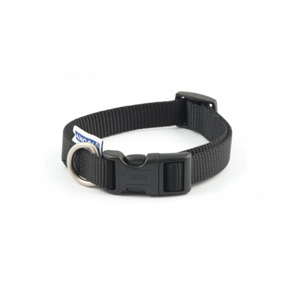 Nylon Adjustable Collar Black Sz 1-2