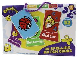 Cbeebies 3D Spelling Match Cards age 18+