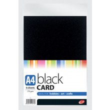 A4 Black Card - 6 sheets 270gsm