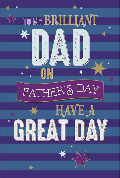 Brilliant Dad Father's Day Greeting Card