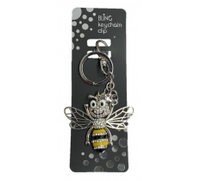 BLING BUMBLE BEE KEYRING WITH KEYCHAIN & CLIP