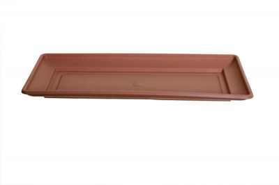 Whitefurze Plastic Terracotta 60cm Venetian Window Box Tray