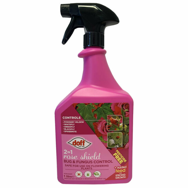 Doff 2 In 1 Rose Shield Bug & Fungus Control 1L For Flowering Plants Insecticide
