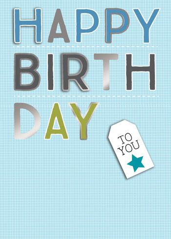 Birthday Greeting Card - Male Typography